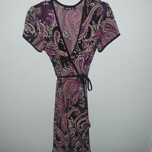 Apt. 9 Purple Paisley Wrap Dress
